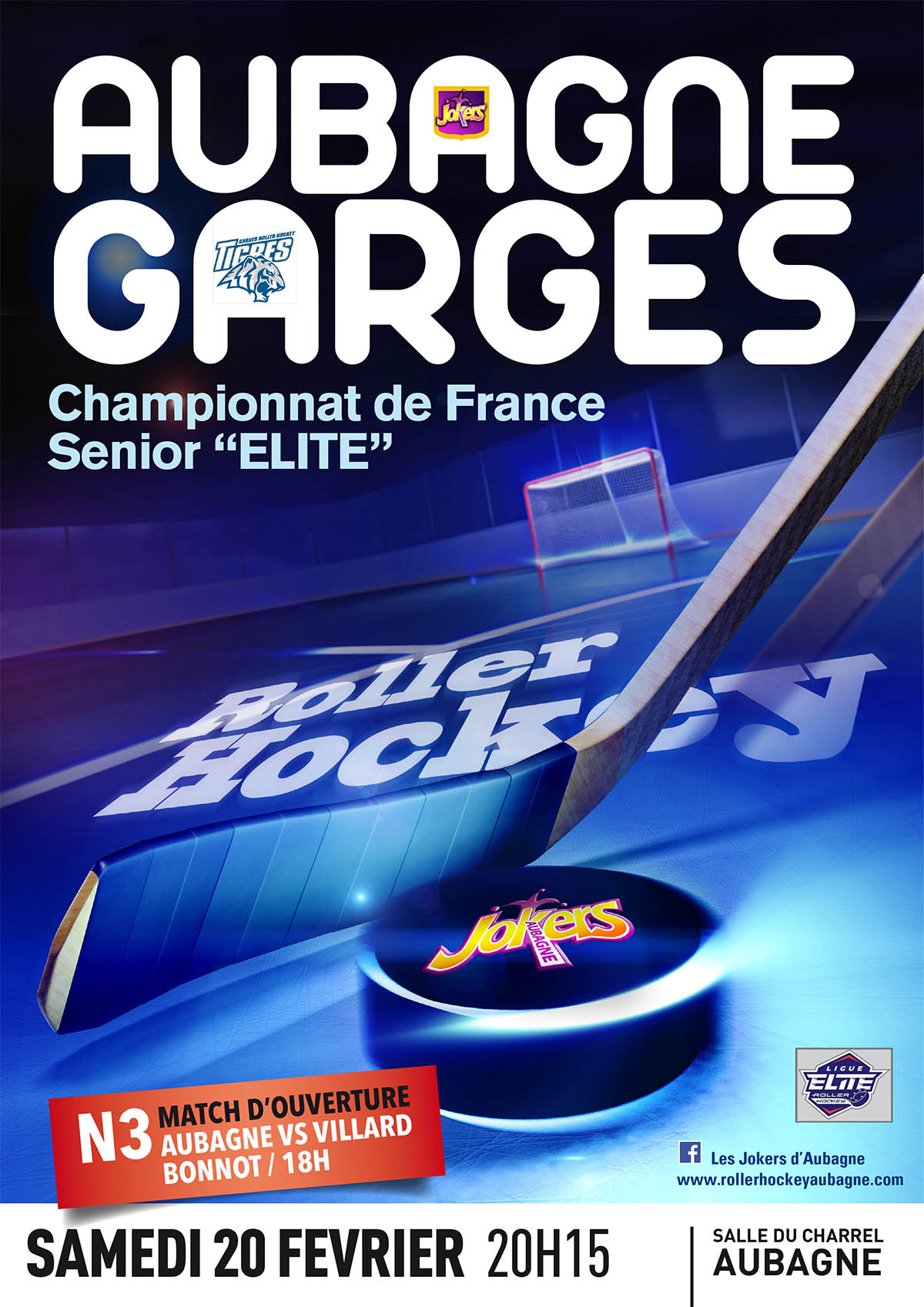 match aubagne garges samedi 20 f vrier 20h15 roller hockey aubagne. Black Bedroom Furniture Sets. Home Design Ideas
